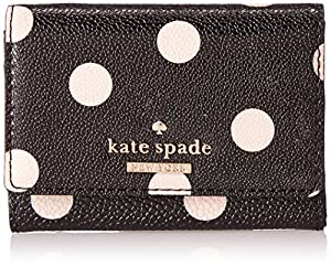 kate spade new york Cedar Street Dot Darla Wallet,Black/Deco Beige,One Size