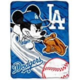 Los Angeles Dodgers Mickey Mouse Micro Raschel Throw Blanket