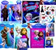 Disney Frozen 9pc Stocking Stuffer, Birthday, Get Well Soon Arts and Crafts Kit, Includes Lenticular Puzzle , 2 Storybooks, Playpack,stamp Set, Necklace, and More!