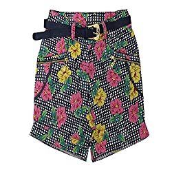 Titrit multicolour cotton girls shorts