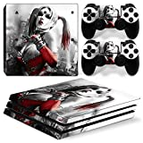ZoomHit Ps4 PRO Playstation 4 PRO Console Skin Decal Sticker Harley Quinn + 2 Controller Skins Set (Pro Only)