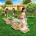 Childrens Kids Splash Aqua Garden Outdoor Water Hopscotch Spray Sprinker Pool Toy Game Mat