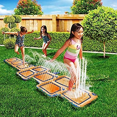 Childrens Kids Splash Aqua Garden Outdoor Water Hopscotch Spray Sprinker Pool Toy Game Mat
