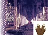 2' x 8' Warm White LED Net Style Tree Trunk Wrap Christmas Lights - Brown Wire