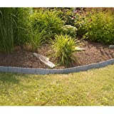 Evelots Interlocking Faux Stone Rock Border Flower bed Garden Edging - 10 Total