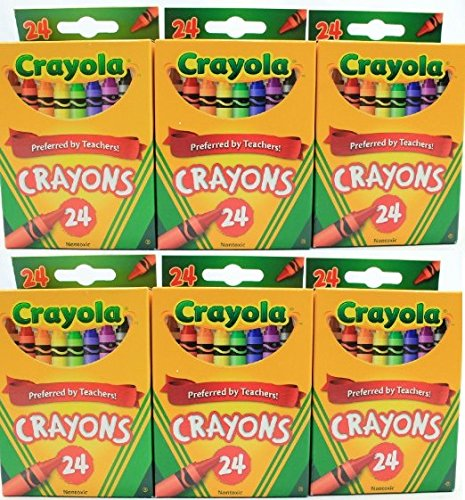 Crayola 24 Count Box of Crayons Non-Toxic Color Coloring Sch