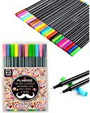 Plinrise HM-001 Sketch Drawing Pen,Fineliner Pen,Fine Point Marker Pen,0.4MM,Pack of 24 Assorted Colors (24)