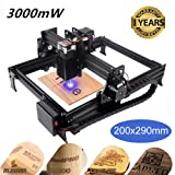 Titoe 3000mW Laser Engraver Machine Upgrated Version Laser Engraving Printer DIY USB CNC Router Cutting Carver Off-line Location Operation for Art Craft Science for Win 7/8/10/XP Android 4.2 (Tamaño: JTL1)