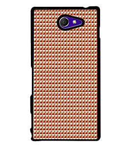Colourful Pattern 2D Hard Polycarbonate Designer Back Case Cover for Sony Xperia M2 Dual :: Sony Xperia M2 Dual D2302