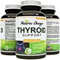Thyroid Support - Potent and Effective Blend for Weight Control - Mix of Herbal Supplements for Thyroid Metabolism - L-Tyrosine, Kelp, Ashwaganda and Bladderwrack for Hormone Support - Pharmaceutical Grade Quality - USA Made by Natures Design