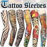 Aadishwar-Creations-Mens-Fancy-Dress-Costume-Fake-Arm-Art-Tattoo-Sleeves-Handg18Multi-Colored-Free-Size