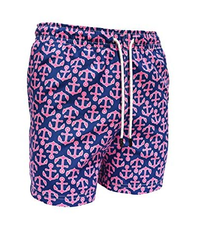 98 Coast Av. Men's Pink Anchors Shorts