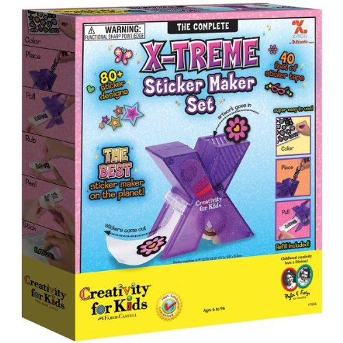 Creativity For Kids X-Treme Sticker Maker Set front-434504