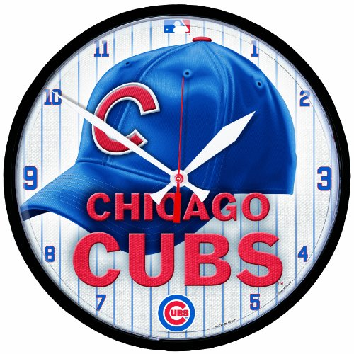 MLB Chicago Cubs Round Clock at Amazon.com