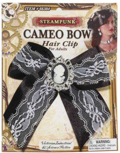 Forum Novelties Inc Men's Steampunk Cameo Hair Bow Clip Multicoloured One Size