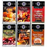 Stash Tea 6-Flavor Assortment Tea, Fall for Autumn, 6 Count