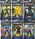 Captain America Marvel Platinum Legends Set of 6 Action Figures [Marvel Now! Captain America, World War II Captain America, Red Skull, Baron Zemo, Agents of Hydra & Soldiers of A.I.M.]