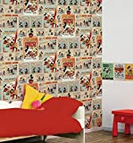 Mickey Mouse Vintage Wallpaper 52cm x 10m from Graham Brown