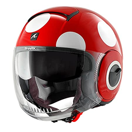 Shark - Casque Shark NANO COXY Rouge/Blanc - Déco - XS