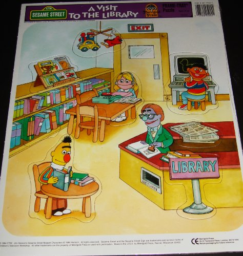 "Sesame Street - A Visit to the Library Frame-tray Puzzle 11.5""x14.5"" - 1"