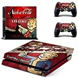 CloudSmart Fallout 4 For Sony Playstation 4 Skin Sticker Vinyl Stickers for PS4 Console x1 Controller Skins x2 - S.P.E.C.I.A.L. Nukacola Vault Boy Approval
