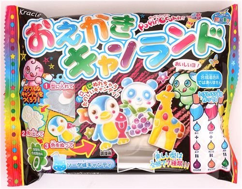 Oekaki Animal Candy Land Popin' Cookin' DIY candy kit Kracie