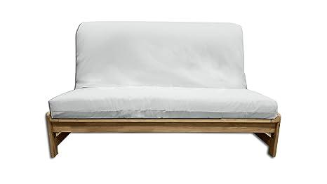 Sofá cama A-Frame , funda cruda, 200x140x30 cm