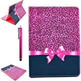 iPad Air Case, Premium PU Leather Flip Case with Buit-IN Kickstand [Anti Scratch] Protecive [Wake/Sleep Function] Cover for Apple iPad Air (Gift: One Stylus)(Present)
