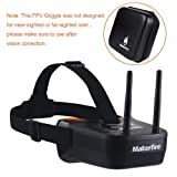 Makerfire 5.8Ghz Mini FPV Goggles 3 inch 40CH FPV Video Headset Glasses with Double RP-SMA Antenna and Handbag Built-in 1200mAh Battery for FPV Racing Drone Quadcopters (Color: Mini FPV Goggles)
