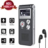 Upgrade Digital Voice Recorder 8GB, Sound Recorder MP3 Player for Lectures/Meetings/Interviews/Class (Color: recorder, Tamaño: VOICE)