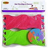 Edushape Edu-Tiles 16 Piece Edges & Corners Set for Playmats (Discontinued by Manufacturer)