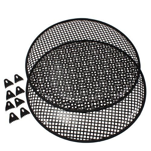 """2X Universal 18"""" Metal Car Subwoofer Waffle Grills Speaker Cover Protector Guard"""