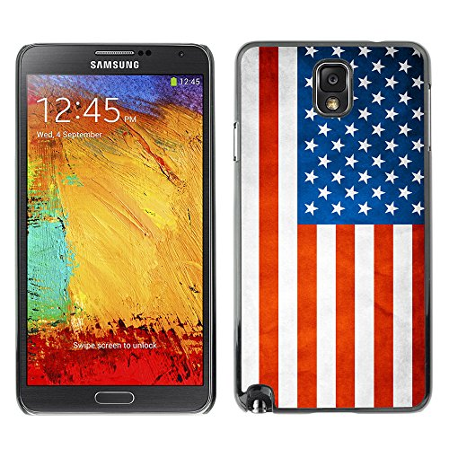Omega Case Strong & Slim Polycarbonate Cover - Samsung Galaxy Note 3 Iii ( Usa Grunge Flag )