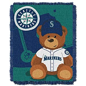 MLB Seattle Mariners Field Woven Jacquard Baby Throw Blanket, 36x46-Inch by Northwest