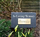 Natural Slate Pet In Loving Memory Rectangular Memorial Plaque