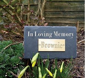 Natural Slate Pet In Loving Memory Rectangular Memorial Plaque