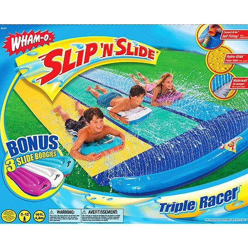 Slip N' Slide Triple Racer with Slide Boogies