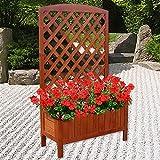 Holz Blumenkasten Rankkasten Blumenständer Rankhilfe Blumentopf Garten