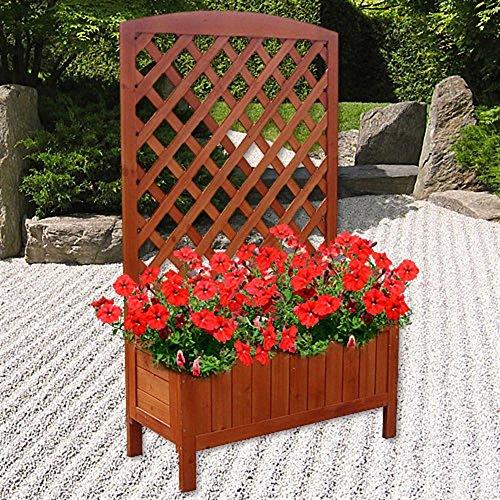 Sichtschutz Holz Mit Blumenkasten ~ pflanzkasten mit rankgitter dieser geschmackvolle pflanzkasten ist mit