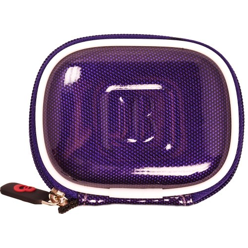 Vangoddy Compact Carrying Case For Plantronics Voyager Legend Bluetooth Headset (Candy Purple)