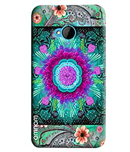 Omnam Flower Printed Pattern Printed Designer Back Cover Case For HTC One M7