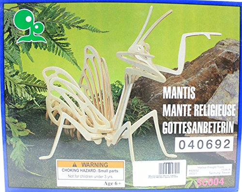 Mantis Balsa Wood 3D Insect Puzzle - 1