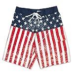 USA American Flag Distressed Mens Boa...