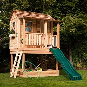 Amazon.com: Sunflower 6x9 Cedar Playhouse with Sandbox: Home & Kitchen