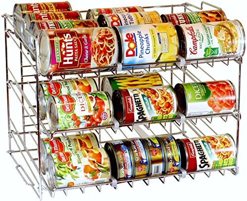DecoBros Supreme Stackable Can Rack Organizer, Chrome Finish (Can Organizer Rack compare prices)