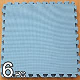 Eva interlocking floor mat tile - interlocks mat - durable (Pack of 1, Blue)