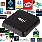 Android TV Box M8 Quad Core Latest 4K HD FULLY LOADED WiFi 5G KITKAT KODI XBMC