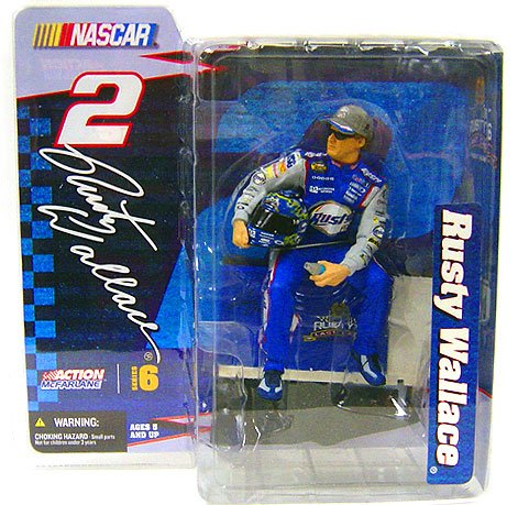 Mcfarlane NASCAR Rusty Wallace Figure Series 6 by McFarlane Toys