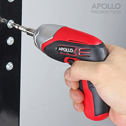 Apollo 3.6V Cordless 1300 mAh Lithium-Ion Screwdriver & 102 Piece Tamperproof Mixed Screwdriver Bit Set in Aluminum Storage Box. All the SAE, Metric, Torq, Phillips, Slotted, Pozidriv, Clutch, IT, Metric, Spline, Tri-wing, Square, Spanner, Hex and Triangle bits you'll ever need! via Amazon