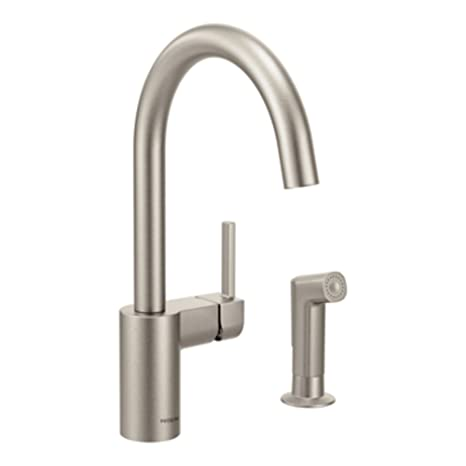 Moen 7165SRS Align One-Handle High Arc Kitchen Faucet, Spot Resist Stainless